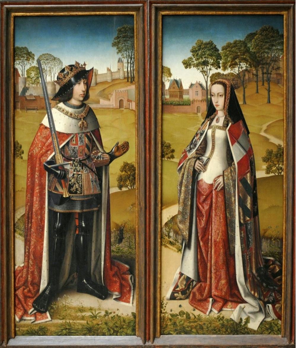 Felipe el Hermoso y Juana la Loca por Jacob Van Laethem